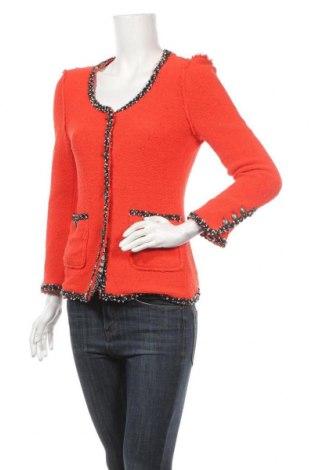 Дамско сако Zara, Размер M, Цвят Оранжев, 92% памук, 8% полиамид, Цена 36,91лв.