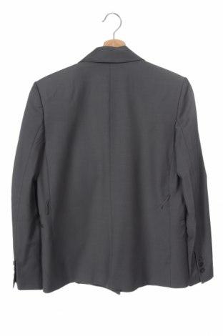 Дамско сако Zara, Размер XS, Цвят Сив, 52% полиестер, 43% вълна, 5% еластан, Цена 33,82лв.
