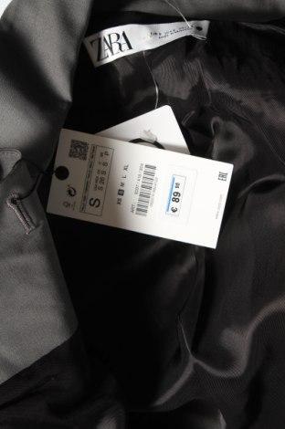 Дамско сако Zara, Размер S, Цвят Сив, 52% полиестер, 43% вълна, 5% еластан, Цена 33,82лв.