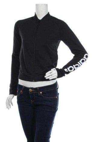 Γυναικεία αθλητική ζακέτα Adidas, Μέγεθος XS, Χρώμα Μαύρο, 72% βαμβάκι, 28% πολυεστέρας, Τιμή 35,57€