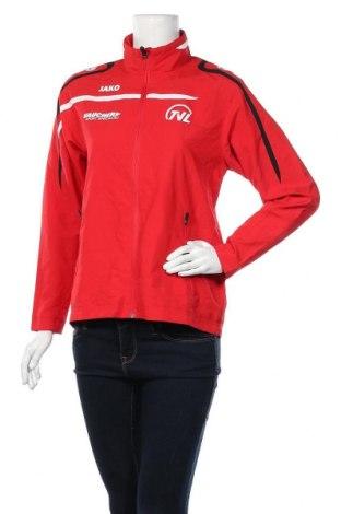 Дамско спортно яке Jako, Размер S, Цвят Червен, Полиестер, Цена 8,40лв.