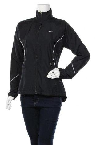 Дамско спортно яке Nike, Размер M, Цвят Черен, Полиестер, Цена 60,90лв.