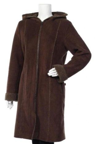 Дамско яке, Размер L, Цвят Кафяв, 60% полиестер, 34% акрил, 6% полиуретан, Цена 45,62лв.
