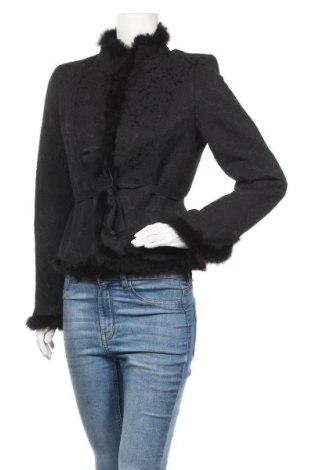 Дамско яке More & More, Размер M, Цвят Черен, 67% памук, 32% полиестер, 1% еластан, естествен косъм, Цена 77,49лв.