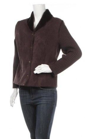 Γυναικείο μπουφάν Olsen, Μέγεθος L, Χρώμα Καφέ, 35% πολυαμίδη, 18% πολυουρεθάνης, 17% ασετάτ, 15% μαλλί, 15% πολυακρυλικό, Τιμή 24,03€