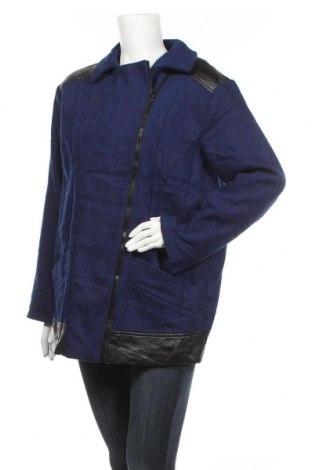 Γυναικείο μπουφάν Rainbow, Μέγεθος M, Χρώμα Μπλέ, 90% πολυεστέρας, 10% μαλλί, δερματίνη, Τιμή 38,26€