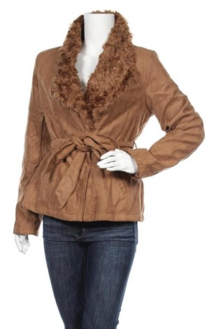 Γυναικείο παλτό Softy, Μέγεθος L, Χρώμα Καφέ, Πολυεστέρας, Τιμή 12,34€