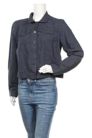 Дамско яке Sussan, Размер XL, Цвят Син, 55% лен, 45% памук, Цена 11,29лв.