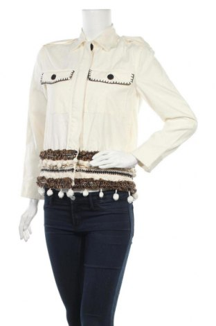 Дамско яке Zara, Размер XS, Цвят Екрю, 100% памук, Цена 17,94лв.