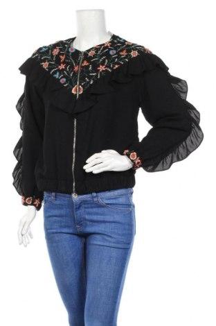 Дамско яке Zara Trafaluc, Размер S, Цвят Черен, Полиестер, Цена 23,32лв.