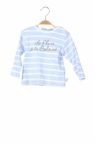 Детска блуза Le Phare De La Baleine, Размер 12-18m/ 80-86 см, Цвят Син, Памук, Цена 23,52лв.