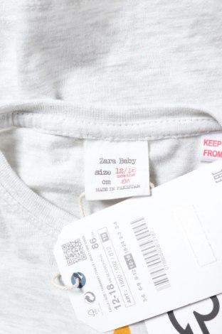 Παιδική μπλούζα Zara, Μέγεθος 12-18m/ 80-86 εκ., Χρώμα Γκρί, 99% βαμβάκι, 1% ελαστάνη, Τιμή 4,02€