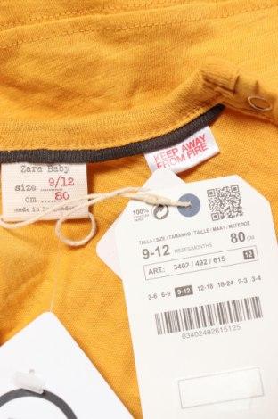 Παιδική μπλούζα Zara, Μέγεθος 9-12m/ 74-80 εκ., Χρώμα Κίτρινο, 100% βαμβάκι, Τιμή 6,56€