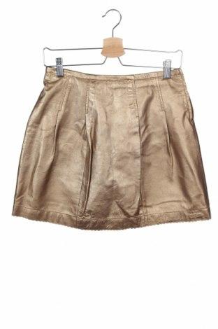 Παιδική δερμάτινη φούστα Escada, Μέγεθος 15-18y/ 170-176 εκ., Χρώμα Χρυσαφί, Γνήσιο δέρμα, Τιμή 20,33€