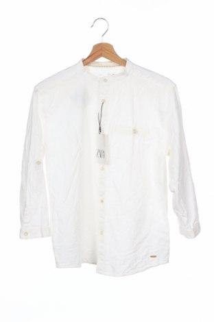 Παιδικό πουκάμισο Zara Kids, Μέγεθος 12-13y/ 158-164 εκ., Χρώμα Λευκό, 73% βαμβάκι, 27% λινό, Τιμή 12,06€