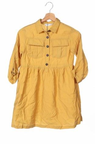 Παιδικό φόρεμα Zara Kids, Μέγεθος 7-8y/ 128-134 εκ., Χρώμα Κίτρινο, 86% lyocell, 14% πολυεστέρας, Τιμή 19,77€