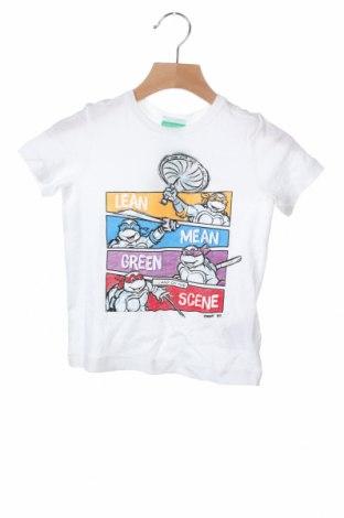 Παιδικό μπλουζάκι United Colors Of Benetton, Μέγεθος 18-24m/ 86-98 εκ., Χρώμα Λευκό, 100% βαμβάκι, Τιμή 9,07€