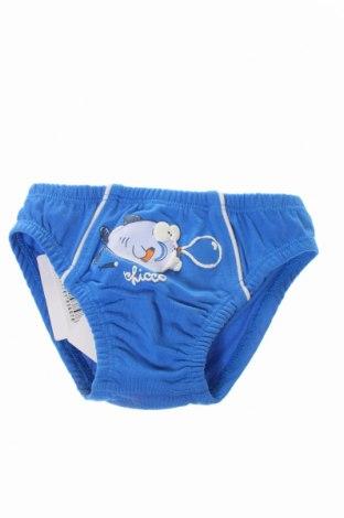 Παιδικά εσώρουχα Chicco, Μέγεθος 0-1m/ 50 εκ., Χρώμα Μπλέ, 95% βαμβάκι, 5% ελαστάνη, Τιμή 6,35€