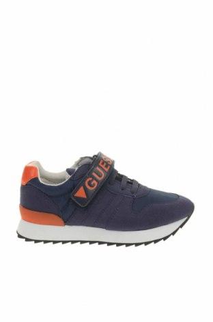 Παιδικά παπούτσια Guess, Μέγεθος 29, Χρώμα Μπλέ, Δερματίνη, κλωστοϋφαντουργικά προϊόντα, Τιμή 34,41€