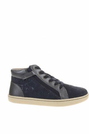 Детски обувки Kickers, Размер 34, Цвят Син, Естествен велур, естествена кожа, Цена 49,77лв.