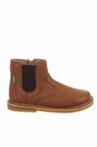 Детски обувки Kickers, Размер 25, Цвят Кафяв, Естествена кожа, Цена 56,07лв.