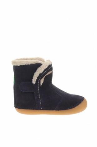 Детски обувки Kickers, Размер 24, Цвят Син, Естествен велур, Цена 62,37лв.