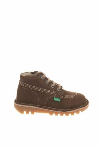 Παιδικά παπούτσια Kickers, Μέγεθος 26, Χρώμα Πράσινο, Γνήσιο δέρμα, Τιμή 34,41€