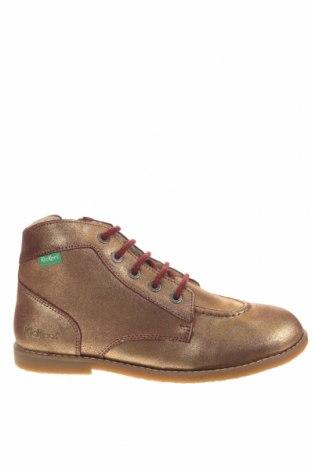 Παιδικά παπούτσια Kickers, Μέγεθος 38, Χρώμα Χρυσαφί, Γνήσιο δέρμα, Τιμή 28,90€