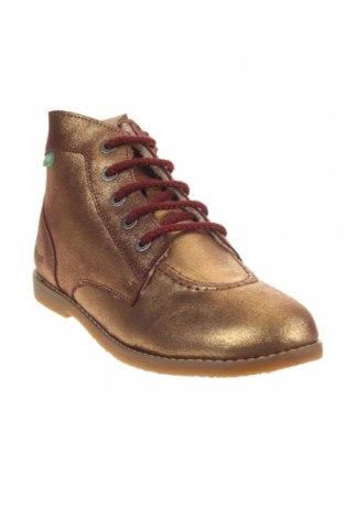 Παιδικά παπούτσια Kickers, Μέγεθος 38, Χρώμα Χρυσαφί, Γνήσιο δέρμα, Τιμή 34,41€