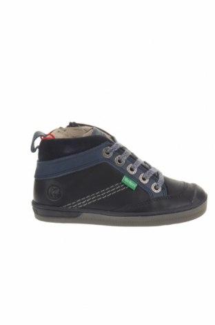 Παιδικά παπούτσια Kickers, Μέγεθος 26, Χρώμα Μπλέ, Γνήσιο δέρμα, φυσικό σουέτ, Τιμή 26,68€