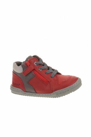 Παιδικά παπούτσια Kickers, Μέγεθος 24, Χρώμα Κόκκινο, Γνήσιο δέρμα, Τιμή 29,73€