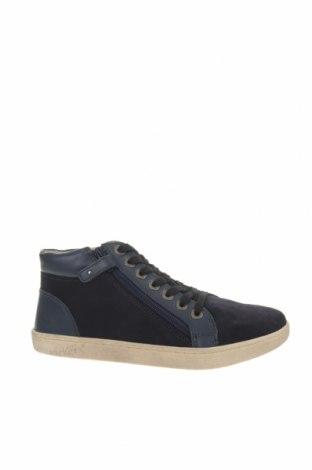 Παιδικά παπούτσια Kickers, Μέγεθος 36, Χρώμα Μπλέ, Φυσικό σουέτ, γνήσιο δέρμα, Τιμή 34,41€