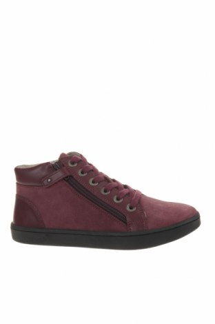 Детски обувки Kickers, Размер 35, Цвят Червен, Естествен велур, естествена кожа, Цена 56,07лв.