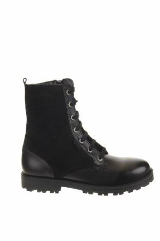 Παιδικά παπούτσια Kickers, Μέγεθος 33, Χρώμα Μαύρο, Γνήσιο δέρμα, φυσικό σουέτ, Τιμή 38,27€