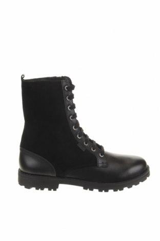 Παιδικά παπούτσια Kickers, Μέγεθος 37, Χρώμα Μαύρο, Γνήσιο δέρμα, φυσικό σουέτ, Τιμή 28,90€