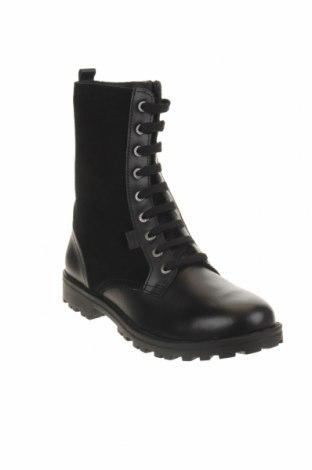 Παιδικά παπούτσια Kickers, Μέγεθος 37, Χρώμα Μαύρο, Γνήσιο δέρμα, φυσικό σουέτ, Τιμή 34,41€