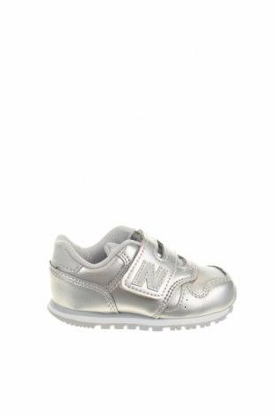 Παιδικά παπούτσια New Balance, Μέγεθος 21, Χρώμα Γκρί, Δερματίνη, Τιμή 33,03€