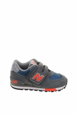 Παιδικά παπούτσια New Balance, Μέγεθος 22, Χρώμα Γκρί, Φυσικό σουέτ, κλωστοϋφαντουργικά προϊόντα, Τιμή 35,40€