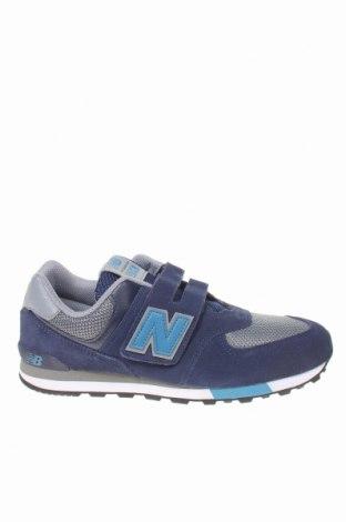 Детски обувки New Balance, Размер 40, Цвят Син, Естествен велур, текстил, Цена 74,97лв.