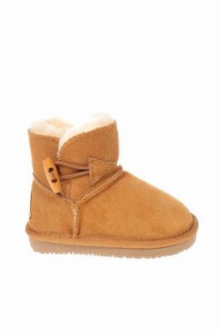 Детски обувки Nice Bay, Размер 24, Цвят Бежов, Естествен велур, Цена 87,57лв.
