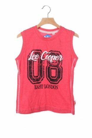 Μπλουζάκι αμάνικο παιδικό Lee Cooper, Μέγεθος 13-14y/ 164-168 εκ., Χρώμα Κόκκινο, Βαμβάκι, Τιμή 7,37€