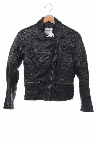 Παιδικό δερμάτινο μπουφάν Pepe Jeans, Μέγεθος 15-18y/ 170-176 εκ., Χρώμα Μαύρο, Γνήσιο δέρμα, Τιμή 37,67€