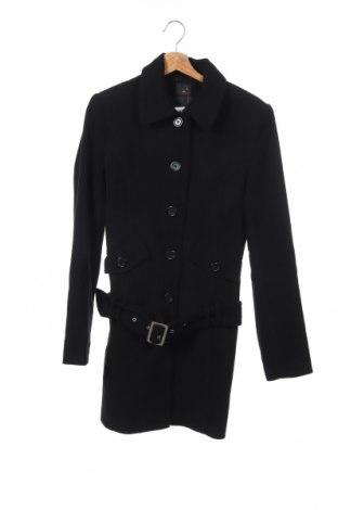 Детско палто Miss Petrolio, Размер 15-18y/ 170-176 см, Цвят Черен, 90% полиестер, 7% вискоза, 3% еластан, Цена 30,03лв.