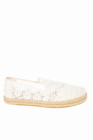Εσπάδριλλες Toms, Μέγεθος 37, Χρώμα Λευκό, Κλωστοϋφαντουργικά προϊόντα, Τιμή 28,46€