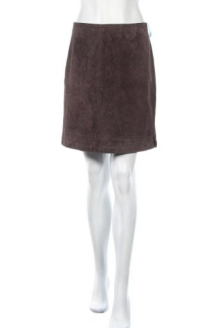 Δερμάτινη φούστα Style & Co, Μέγεθος S, Χρώμα Καφέ, Φυσικό σουέτ, Τιμή 12,50€