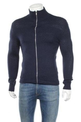Мъжка жилетка Samsoe & Samsoe, Размер XS, Цвят Син, 50% вълна, 50% акрил, Цена 14,40лв.