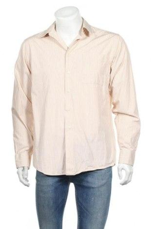 Мъжка риза Calvin Klein, Размер L, Цвят Бежов, Памук, Цена 47,50лв.