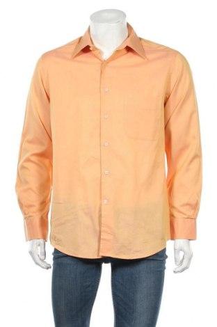 Ανδρικό πουκάμισο Guy Laroche, Μέγεθος L, Χρώμα Πορτοκαλί, 66% βαμβάκι, 34% πολυεστέρας, Τιμή 23,38€