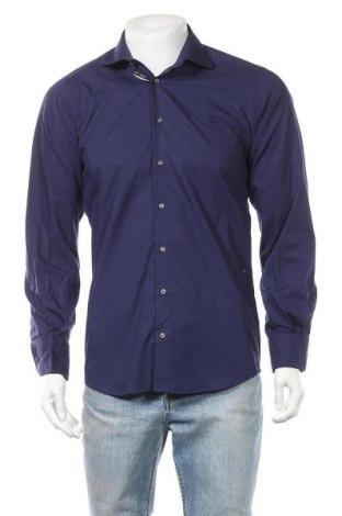 Ανδρικό πουκάμισο Otto Kern, Μέγεθος S, Χρώμα Μπλέ, Βαμβάκι, Τιμή 22,41€