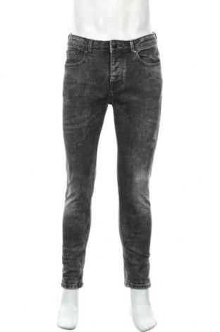 Мъжки дънки Denim Co, Размер M, Цвят Сив, 99% памук, 1% еластан, Цена 22,05лв.